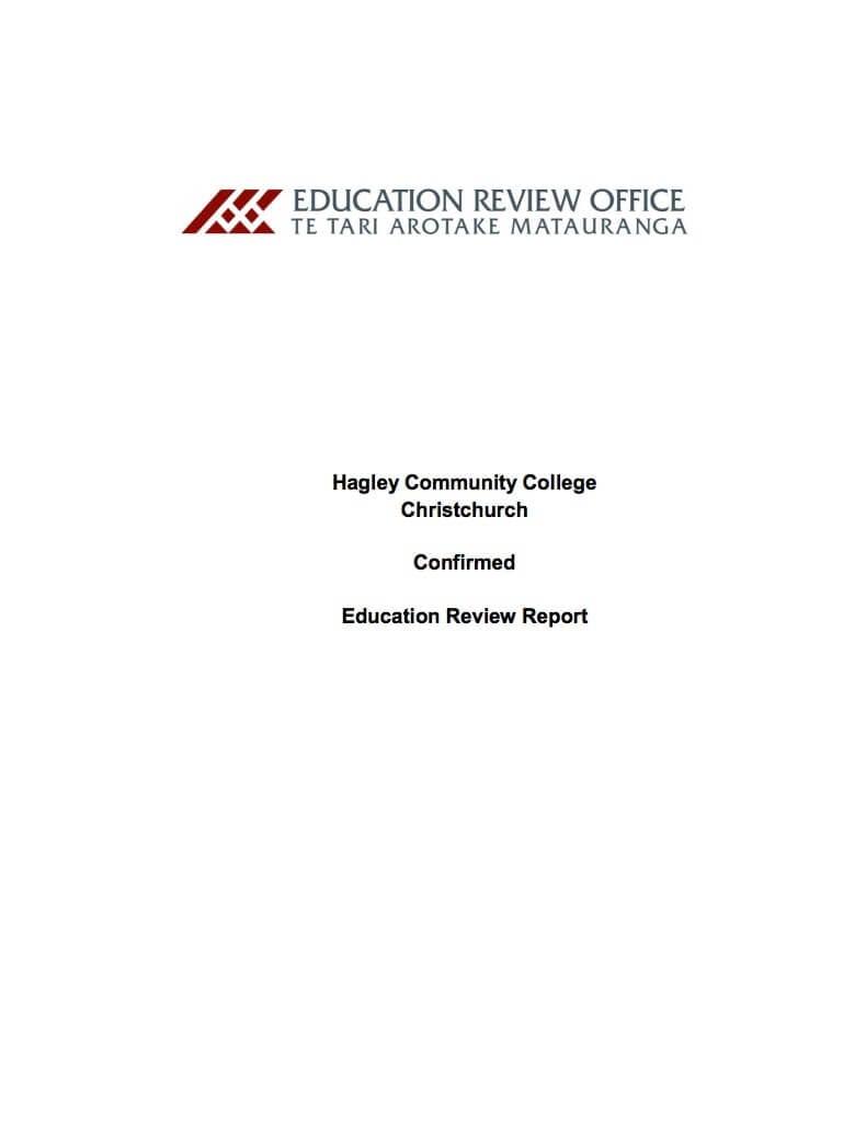 Hagley ERO Report 2015