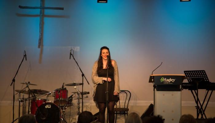 Katherine Wells performing